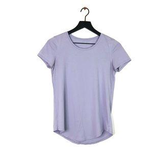 Lululemon   Lavender Crew Neck Short Sleeve Shirt